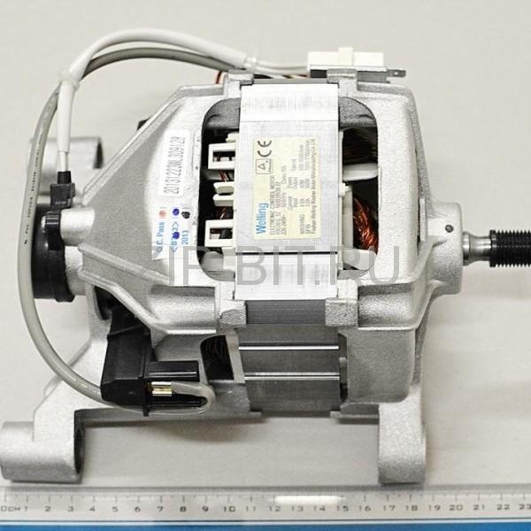 Двигатель стиральной машины Indesit (длинный, габаритный размер от края ножки до края вала 23,5 см) , 288958, 092153. оригинальная упаковка