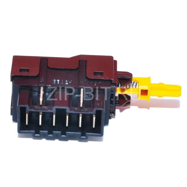 Кнопка сетевая стиральной машины Zanussi-Electrolux 6+2 котакта, 1249271311, 1245407000